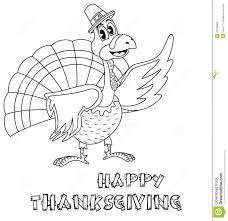 thanksgiving turkey coloring page stock vector image 45703069