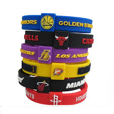 silicone bracelet wristband images Kleeder basketball team women and men 39 s silicone bracelets sports jpg