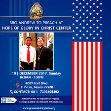 El Paso Texas Flag Bro Andrew To Preach At Hope Of Glory Center Texas America Grace