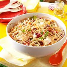 noodle salad recipes sesame chicken noodle salad recipe taste of home