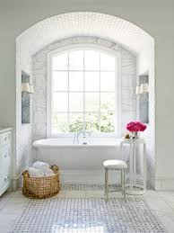 carrara marble tile bathroom undermount sinks shower with glass