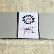 Tri Fold Invitations Trifold Invitation Or Save The Date Design Fee Silver U0026 Salmon St