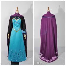 oisk frozen snow queen elsa coronation dress cosplay