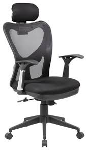 Lumbar Support Chairs Office Chair With Adjustable Lumbar Support Headrest Black