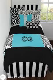 Black And Blue Bedding Sets with Blue U0026 Black Damask Designer Dorm Bedding Set