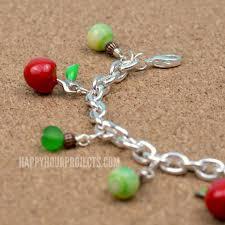 themed charm bracelet apple themed charm bracelet happy hour projects