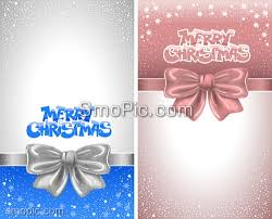 2 vector bow snowflake christmas greeting card cover background
