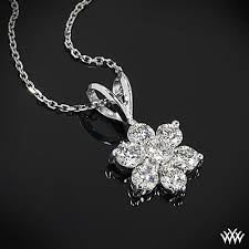 diamond flower necklace images Flower cluster 39 diamond pendant 647 jpg