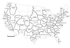 I Am America Map by Here Are The Real Boundaries Of American Metropolises Decided By