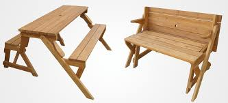 Park Bench And Table A Garden Bench That Unfolds Into A Picnic Table