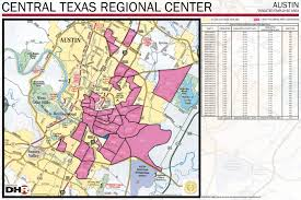 City Of Austin Map by Regional Centers Central Texas Regional Center