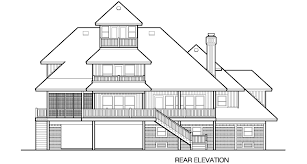 House Plans With Elevators Grand Peaks Cottage Piling Foundation With Roof Top Observation