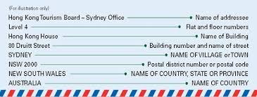 hongkong post correct address