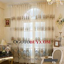 Gold And Blue Curtains Exquisite Decorative Embroidered Pattern In Blue And Gold Color