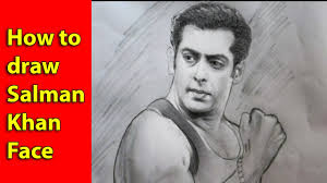 how to drawing salman khan face with pencil pencil sketch