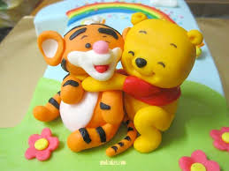 mom and daughter cakes tigger on no 1 fondant birthday cake