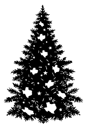 christmas tree clip art black and white christmastree photo