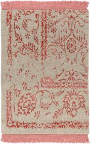 Coral Colored Area Rugs by Design Fringe Rug