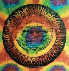 Grateful Dead Curtains Trippystore Com Grateful Dead Jerry Garcia Sun Face Tapestry