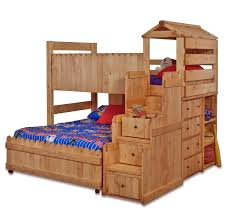 Twin Size Loft Bed With Desk by Trendwood The Fort Twin Full Complete Loft Fort Bed With Stairway