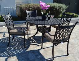 round table grand ave full set patio furniture in santa ana orange county provided by