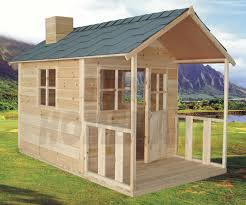 extra height outdoor playhouse wooden cubby house windows