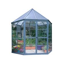palram 8 ft x 7 ft oasis hexagonal greenhouse 704053 the home