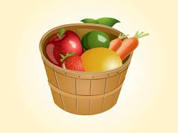 basket of fruit fruit basket vector graphics freevector