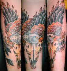 fresh picture of my traditional eagle and bison skull by joe