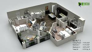 3d floor plan office drawbotics3d model rendering software