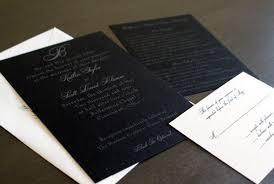 black tie wedding invitations black tie wedding invitation with black paper and silver lettering
