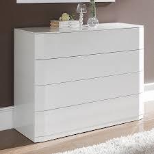 commode chambre adulte design commode blanc laqué design pour une chambre très élégante
