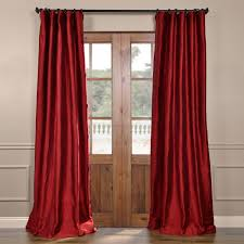 Raw Silk Drapery Panels by Chili Pepper Red Silk Curtains Half Price Drapes