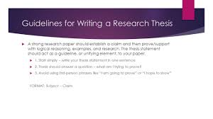 how to start writing research paper do now pick up the sample paper from the front table read guidelines for writing a research thesis a strong research paper should establish a claim and