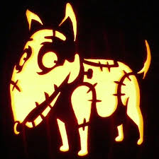 carved pumpkin sparky from frankenweenie pattern by