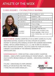 History Of Canadian Flag Athlete Of The Week Clara Hughes Team Canada Official 2018