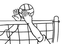 volleyball blocked opponent coloring download