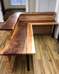 Rustic Office Desk Design Wood Rustic L Shaped Office Desk Best Home Furniture Design
