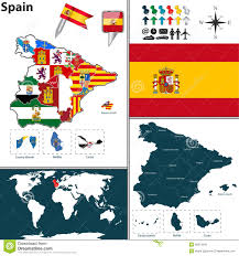 map of spain stock vector image of catalonia islands 50813940