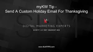 mykw tip send a custom email for thanksgiving