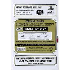 scrapbook page protectors pioneer rw57 deluxe e z load refill pages 5x7 inch rw57