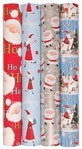 gift wrap paper rolls 4 rolls x 5m christmas gift wrap wrapping paper roll santa