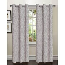 window elements semi opaque adelle flocked faux silk 84 in l