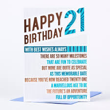 21st birthday card happy birthday 21 only 89p