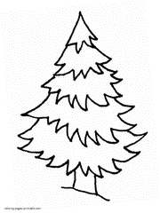 christmas tree coloring sheet images gallery