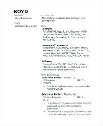 Developer Resume Template Sample Salesforce Resume Developer Resume Sample Sample Resume And