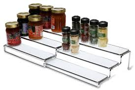 Kitchen Organizer Cabinet Spice Rack Organizer Cabinet Kitchen Step Shelf Tier Level Storage