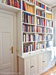 wall bookcase with glass door best shower collection