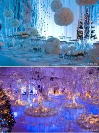 Blue Christmas Wedding Decorations by Winter Wedding Theme Fantastical Wedding Stylings