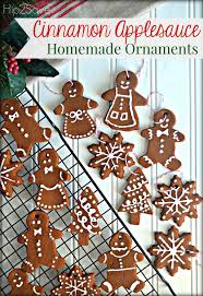 cinnamon applesauce ornaments easy craft for